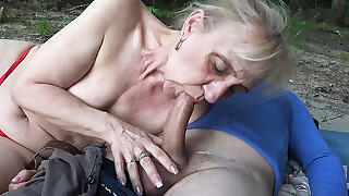 85 year old mom`s first public beach sex